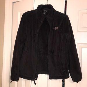Women's Fuzzy Black NorthFace Jacket